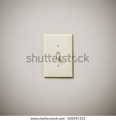 Lightswitch on Wall Off - stock photo