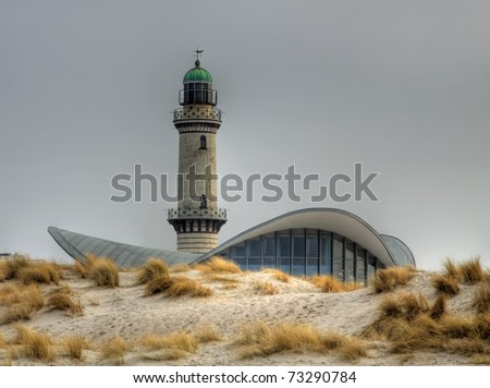 Lighttower in Warnem�¼nde (Mecklenburg-Vorpommern, Germany) 05 - stock photo