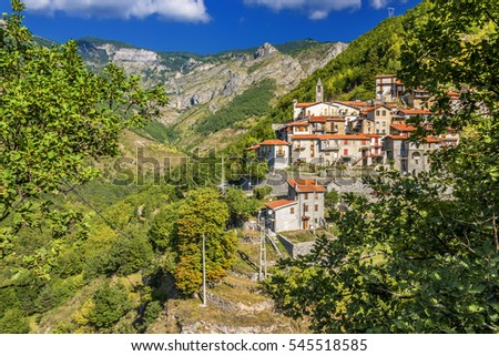 Ligurian Alps village hillside italy church liguria valley watch forest
