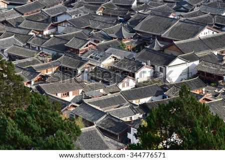 Lijiang, China - October 24, 2015: Old Town of Lijiang(UNESCO World heritage site) on October 24, 2015 in Yunnan, China.