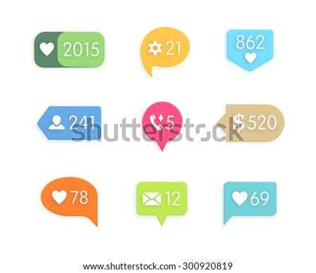 Like and information button icon with counter. Network and communication, web and internet, social design application - stock photo
