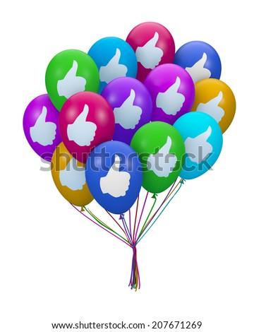 like balloon 3d render  - stock photo