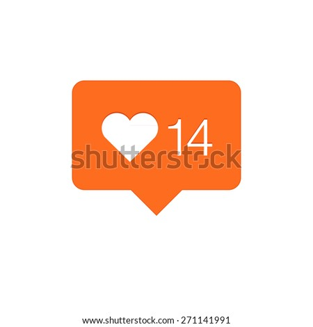 Like Counter Notification Icon - stock photo