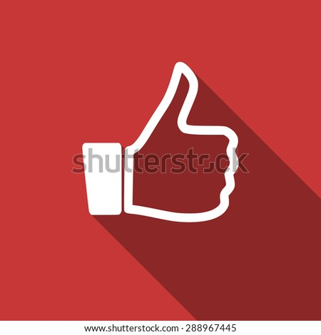 like flat design modern icon with long shadow for web and mobile app  - stock photo