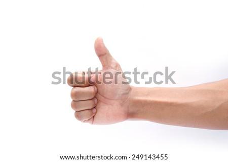 like hand on white background - stock photo