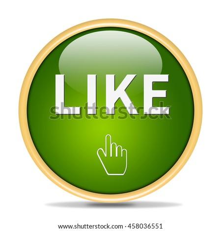 Like icon. Internet button on white background. 3d illustration - stock photo
