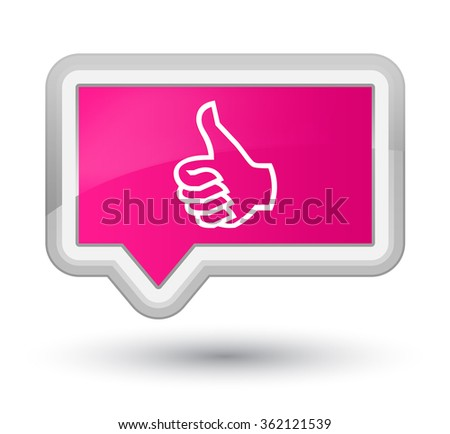 Like icon pink banner button - stock photo