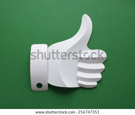 Like on green. - stock photo