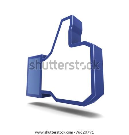 Like symbol isolated on white background - stock photo