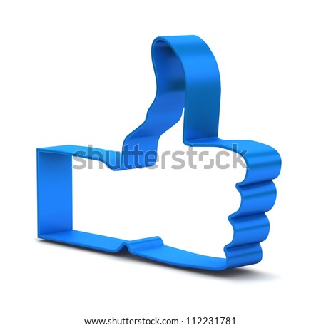 Like symbol on white background - stock photo