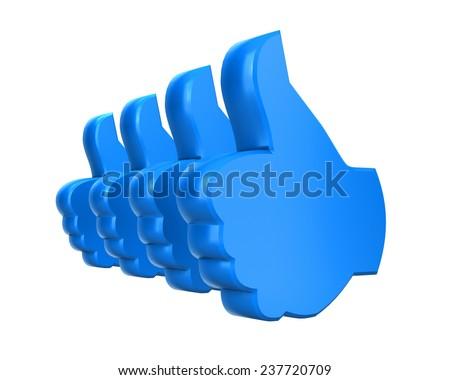 like thumbs up icon , social media - stock photo