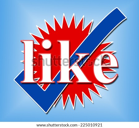 Like Tick Meaning Social Media And Follower