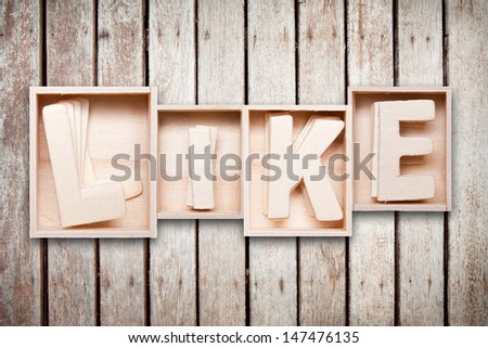 Like wood word style - stock photo