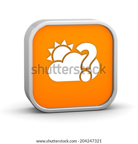 Likely partly cloudy sign on a white background. Part of a series.  - stock photo