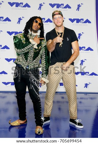 Lil B and Colin Tilley at the 2017 MTV Video Music Awards held at the Forum in Inglewood, USA on August 27, 2017.