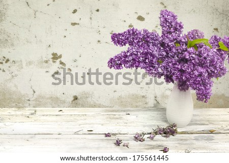 Lilac in a Vase. - stock photo