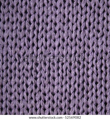 Lilac knitted textured can use as background - stock photo