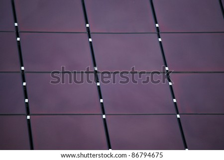 Lilac solar panel - stock photo