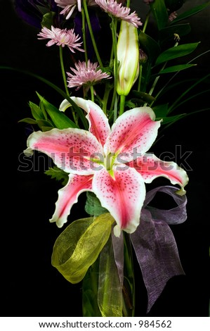 Lilly composition - stock photo