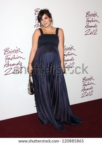 Lily Cooper arriving for The British Fashion Awards 2012 held at The Savoy, London. 27/11/2012 Picture by: Henry Harris - stock photo