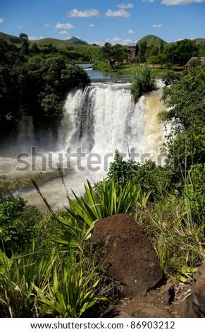 Lily waterfalls - stock photo