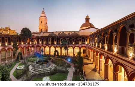 Lima, Peru: Santo Domingo Monastery - stock photo