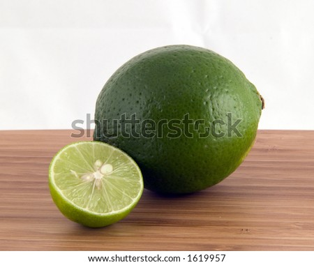 Lime and Key Lime - stock photo