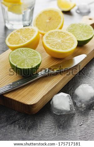 Lime and lemon - stock photo