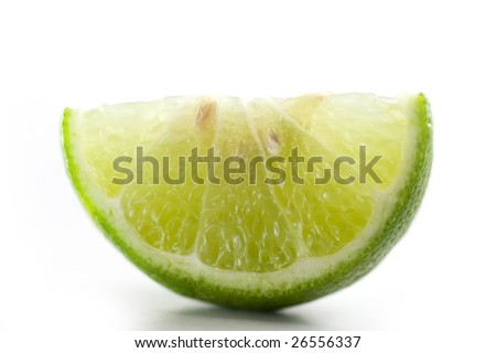 Lime cut into quarter - stock photo