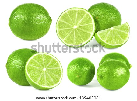 lime fruit collection - stock photo