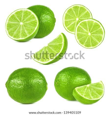 lime fruit set - stock photo
