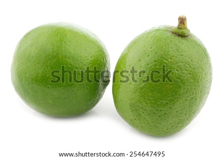 lime fruits on a white background - stock photo