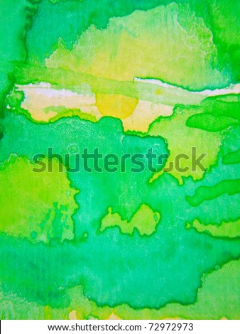 Lime Green Watercolor 2 - stock photo