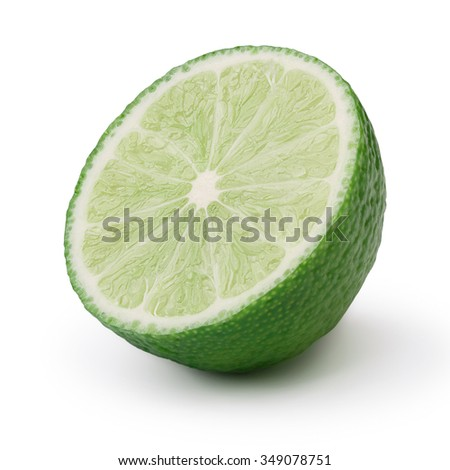 Lime half without leaf. Infinite depth of field,clipping path,retouched