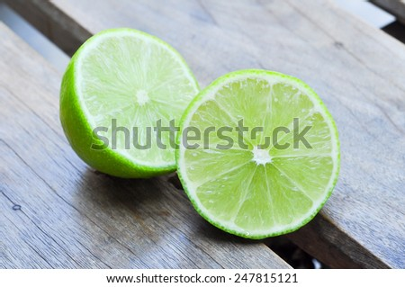 Lime is a citrus fruit can be cooked food or drink. - stock photo