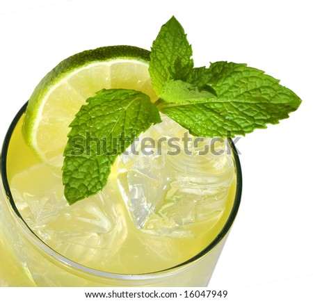 Lime, Mint and Ice - stock photo