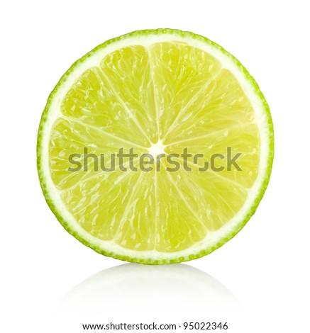 lime slice - stock photo