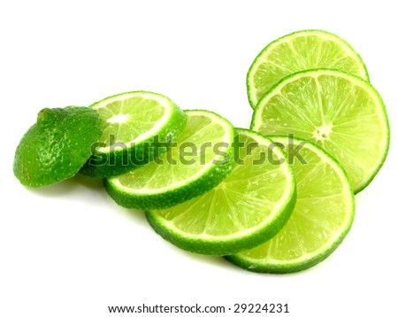 Lime Slices - stock photo