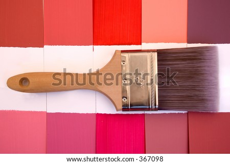 Lime Wash Color Sampler - stock photo
