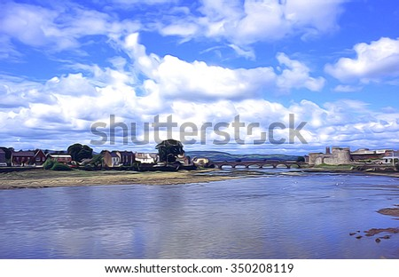 Limerick, Ireland depiction - stock photo