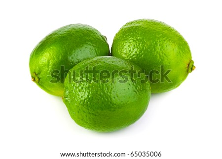 Limes isolated on white background - stock photo