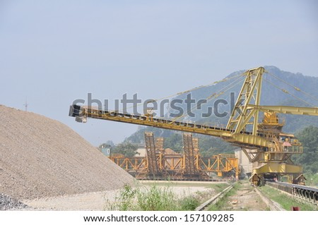 Limestone for cement plant, Thailand.