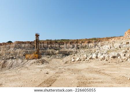Limestone in the development of rock. - stock photo