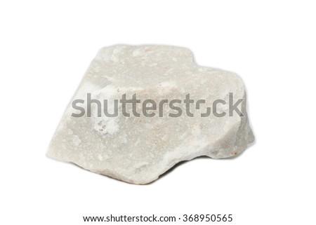 limestone isolate on white - stock photo