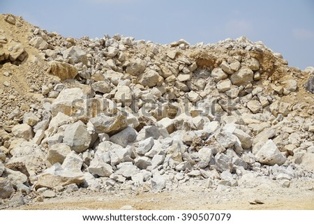 limestone production - stock photo