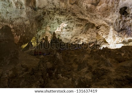 Limestones formations of Guadeloupe Mountains' Carlsbad Caverns. - stock photo