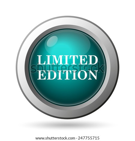 Limited edition icon. Internet button on white background.