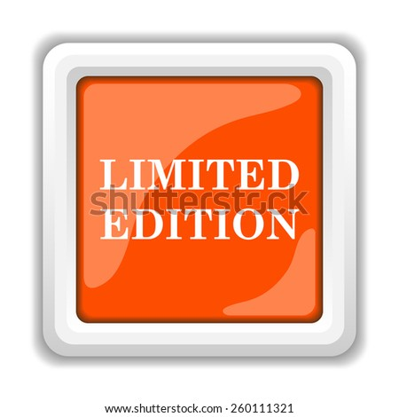 Limited edition icon. Internet button on white background.  - stock photo