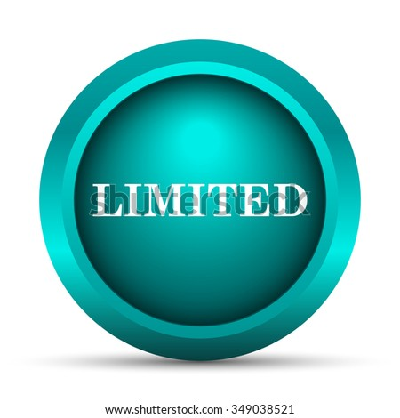 Limited icon. Internet button on white background.  - stock photo