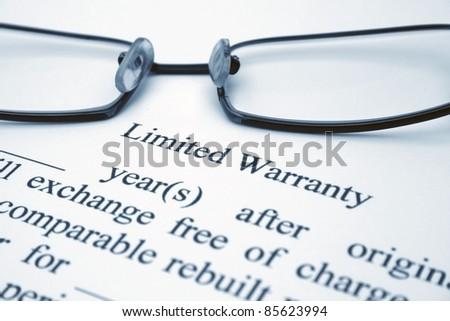 Limited warranty - stock photo